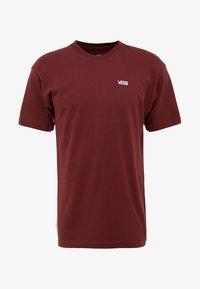 Vans - LEFT CHEST LOGO TEE - T-shirt z nadrukiem - bordeaux - 3
