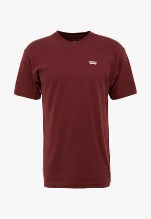 LEFT CHEST LOGO TEE - T-shirt z nadrukiem - bordeaux