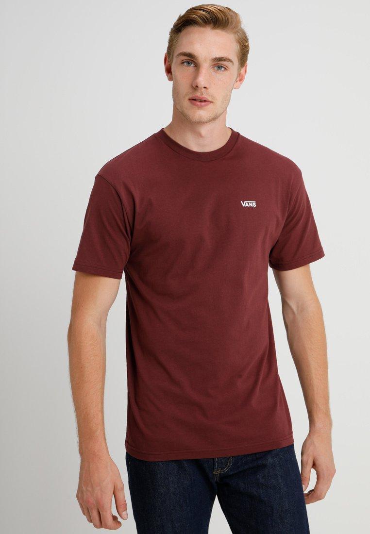 Vans - LEFT CHEST LOGO TEE - T-shirt z nadrukiem - bordeaux