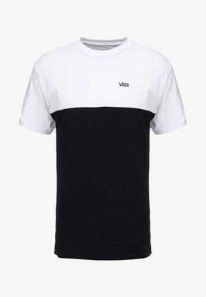 COLORBLOCK TEE - T-shirt con stampa - white/black