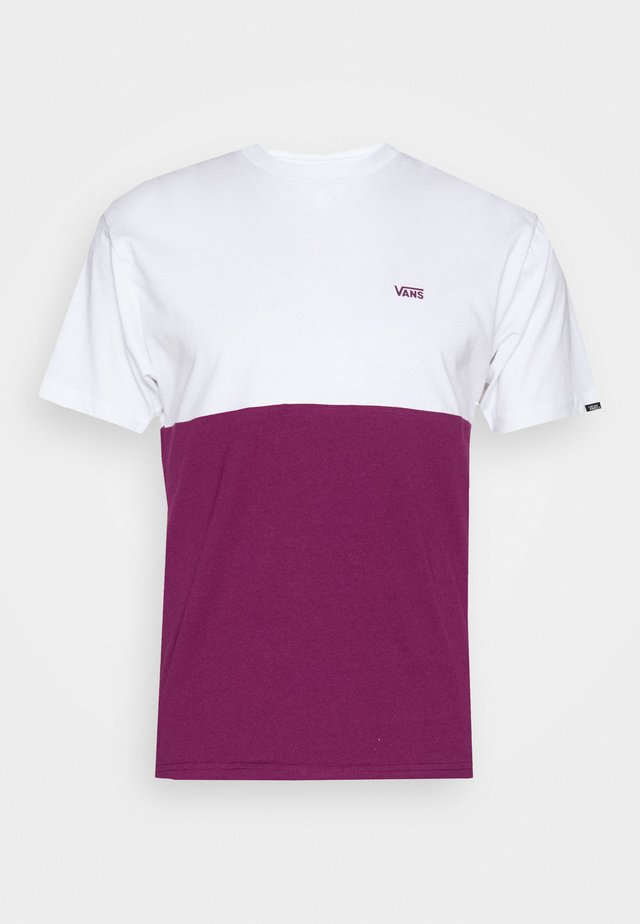 COLORBLOCK TEE - T-shirt print - dark purple/white