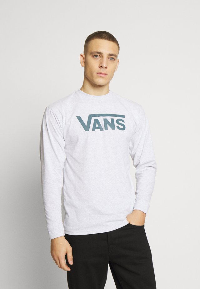 CLASSIC FIT - Longsleeve - mottled light grey/dark green