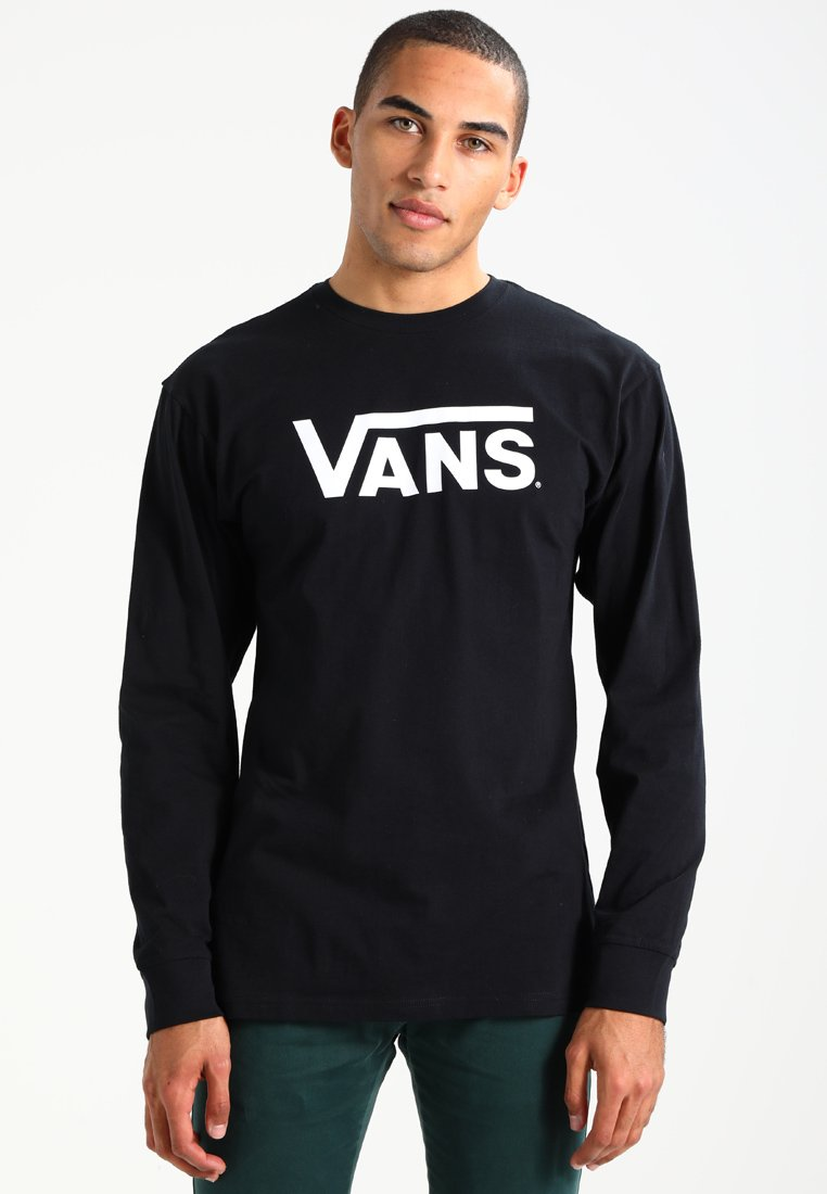 Vans CLASSIC FIT - Bluzka z długim rękawem - black/white