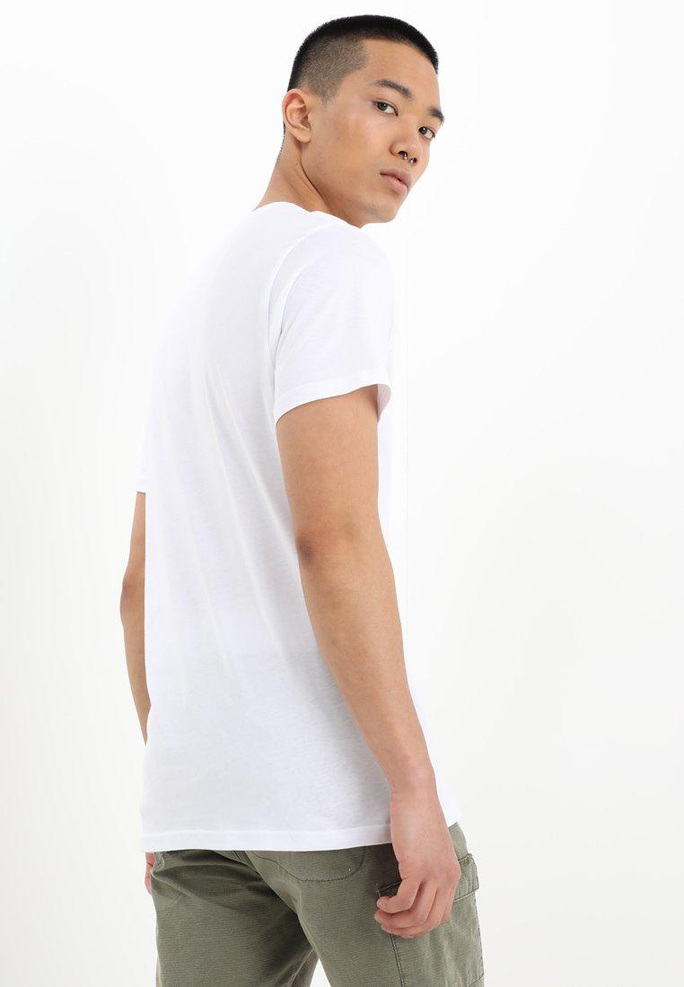 White shirt Imprimé Vans BoxT black shdrtQC