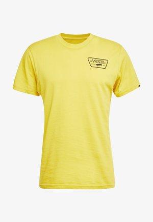 FULL PATCH BACK  - T-shirts print - sulphur/black