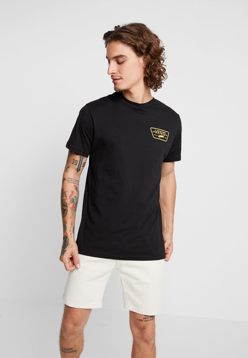 Vans - FULL PATCH BACK  - T-shirt print - black/sulphur