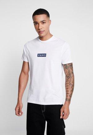 EASY BOX  - T-shirt med print - white/dress blues