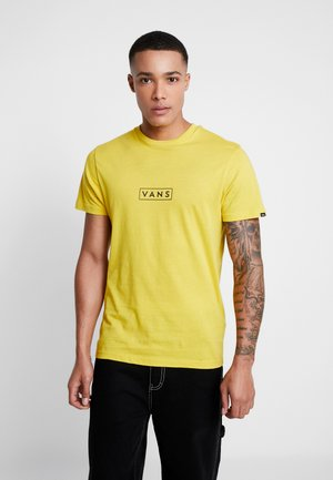 EASY BOX  - T-shirt med print - sulphur/black