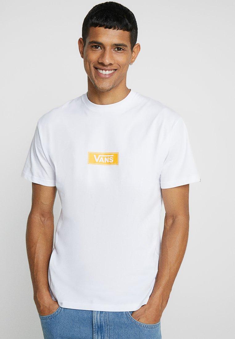Vans - BOX LOGO  - T-shirt imprimé - white