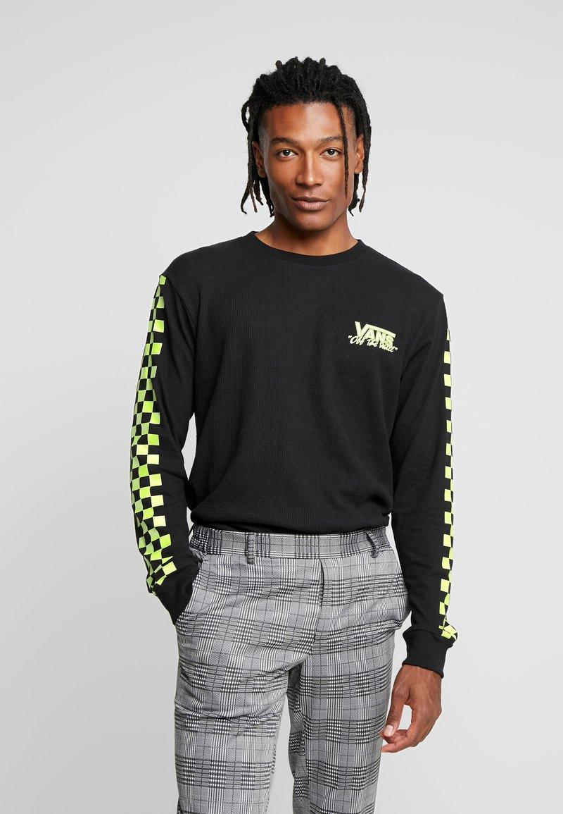 Vans - CHECKER  - Langarmshirt - black