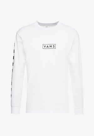 EASY BOX CHECKER - Long sleeved top - white/black
