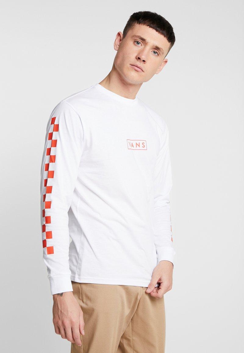Vans - EASY BOX CHECKER - Långärmad tröja - white/spicy orange