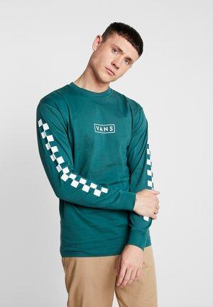 EASY BOX CHECKER - Long sleeved top - green/white