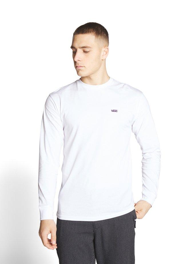 LEFT CHEST HIT - Långärmad tröja - white/heliotrope