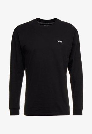 LEFT CHEST HIT - Long sleeved top - black/white