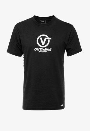 DISTORT PERFORMANCE  - T-shirt z nadrukiem - black