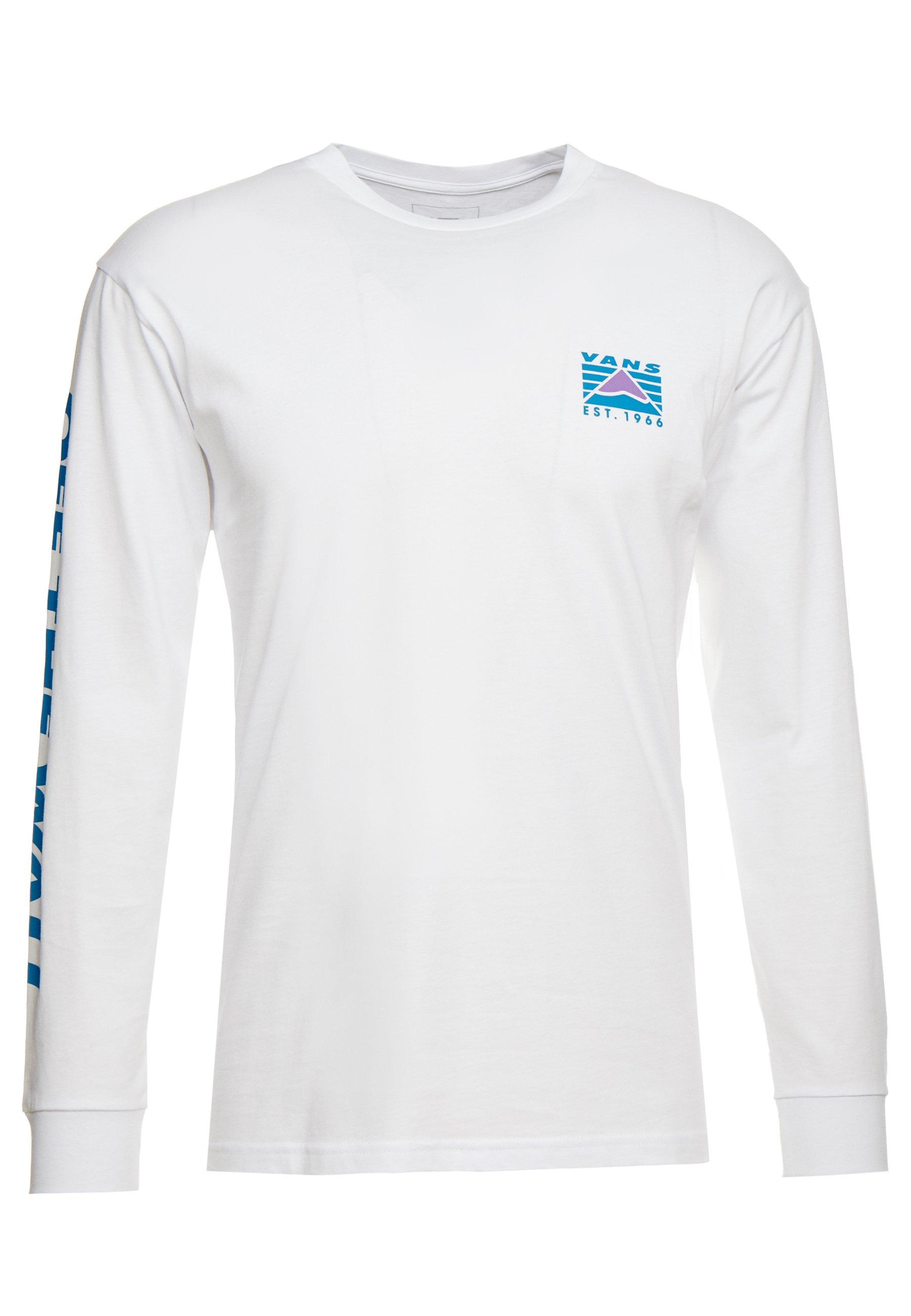 Vans STRIPE T shirt à manches longues white ZALANDO.FR