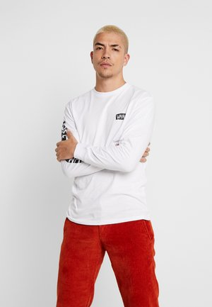 SCRATCHED VANS - Long sleeved top - white