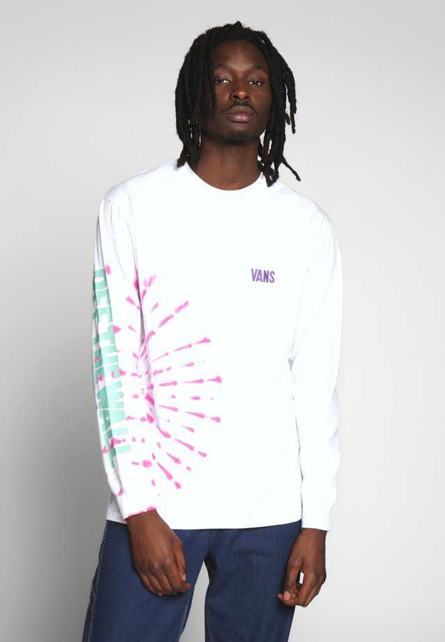 EYES OPEN TIE DYE - Longsleeve - white
