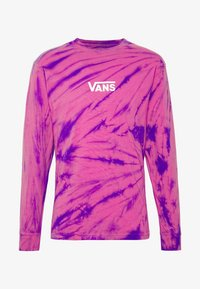 Vans - TIE DYE CHECKER SLEEVE - Long sleeved top - fuchsia/purple - 4