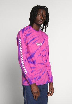 TIE DYE CHECKER SLEEVE - Long sleeved top - fuchsia/purple