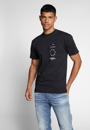 DISTORTION TYPE - T-shirt con stampa - black