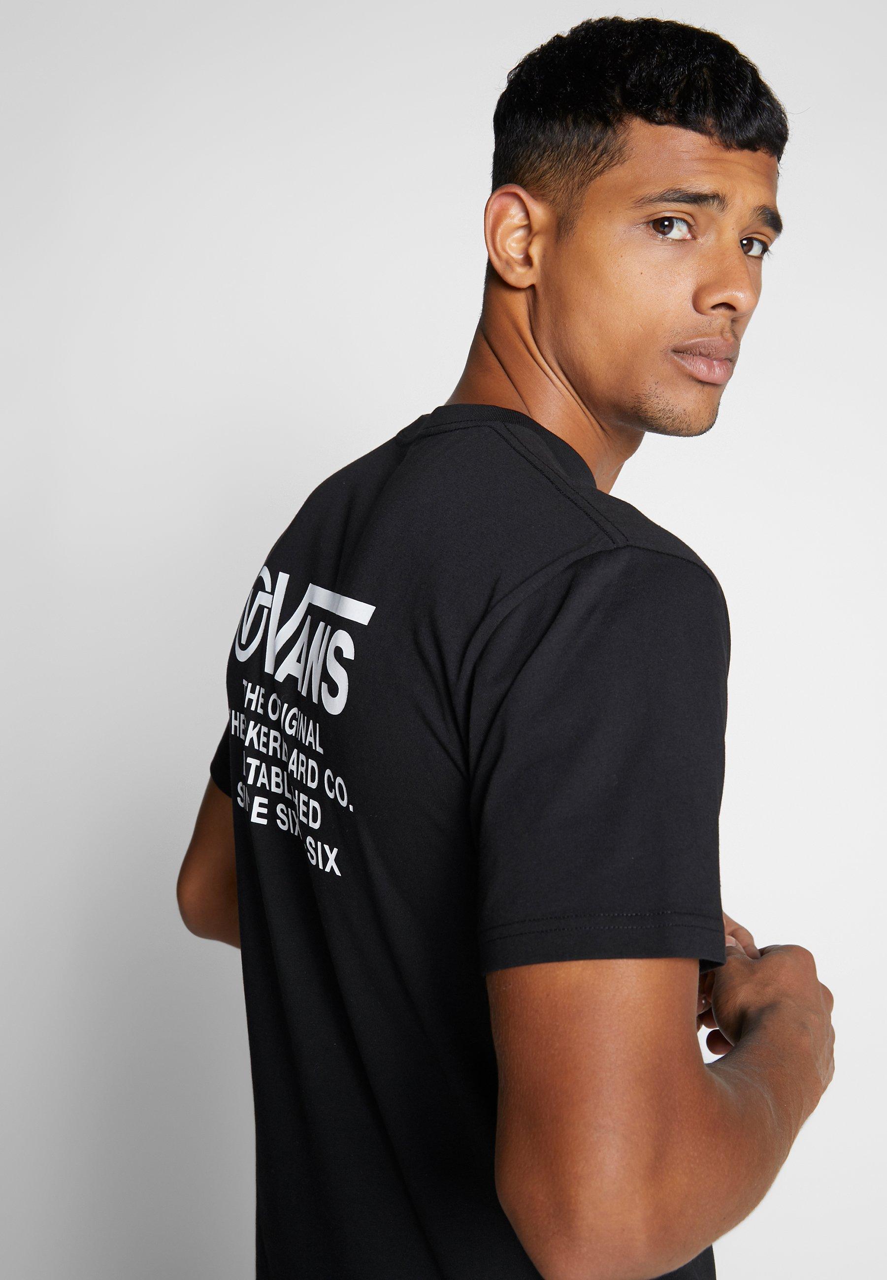 Vans DISTORTION TYPE - T-shirt z nadrukiem - black