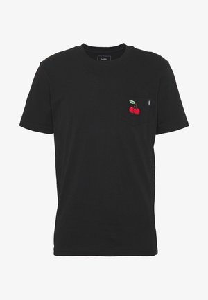 CHERRIES POCKET  - T-shirts print - black