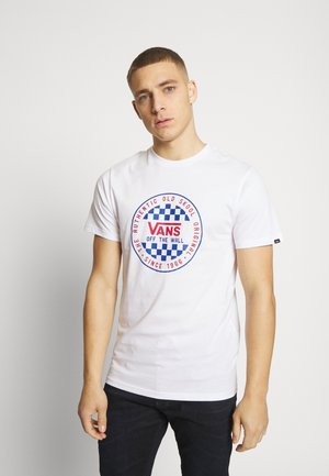 CHECKER - Camiseta estampada - white