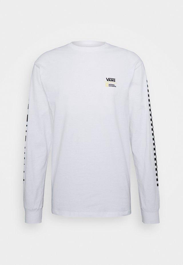 VANS X NATIONAL GEOGRAPHIC GLOBE  - Longsleeve - white