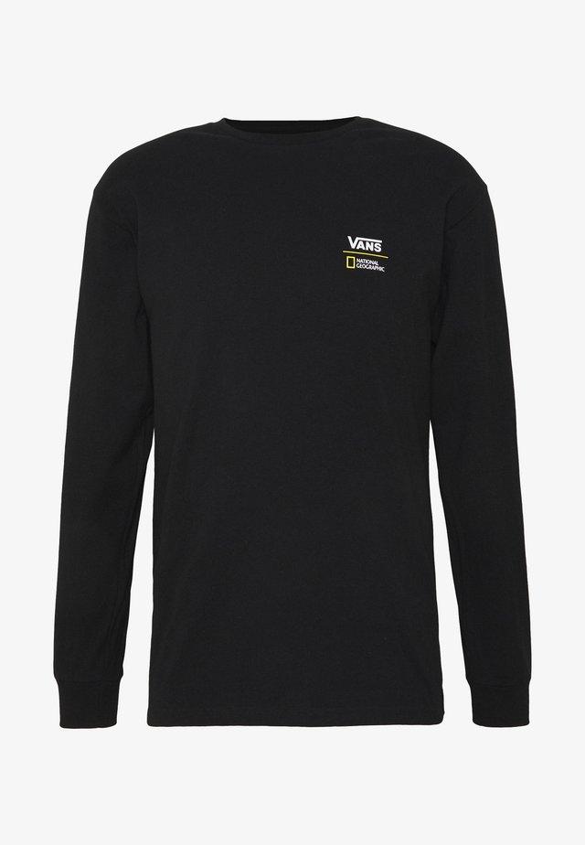 VANS X NATIONAL GEOGRAPHIC GLOBE  - Långärmad tröja - black