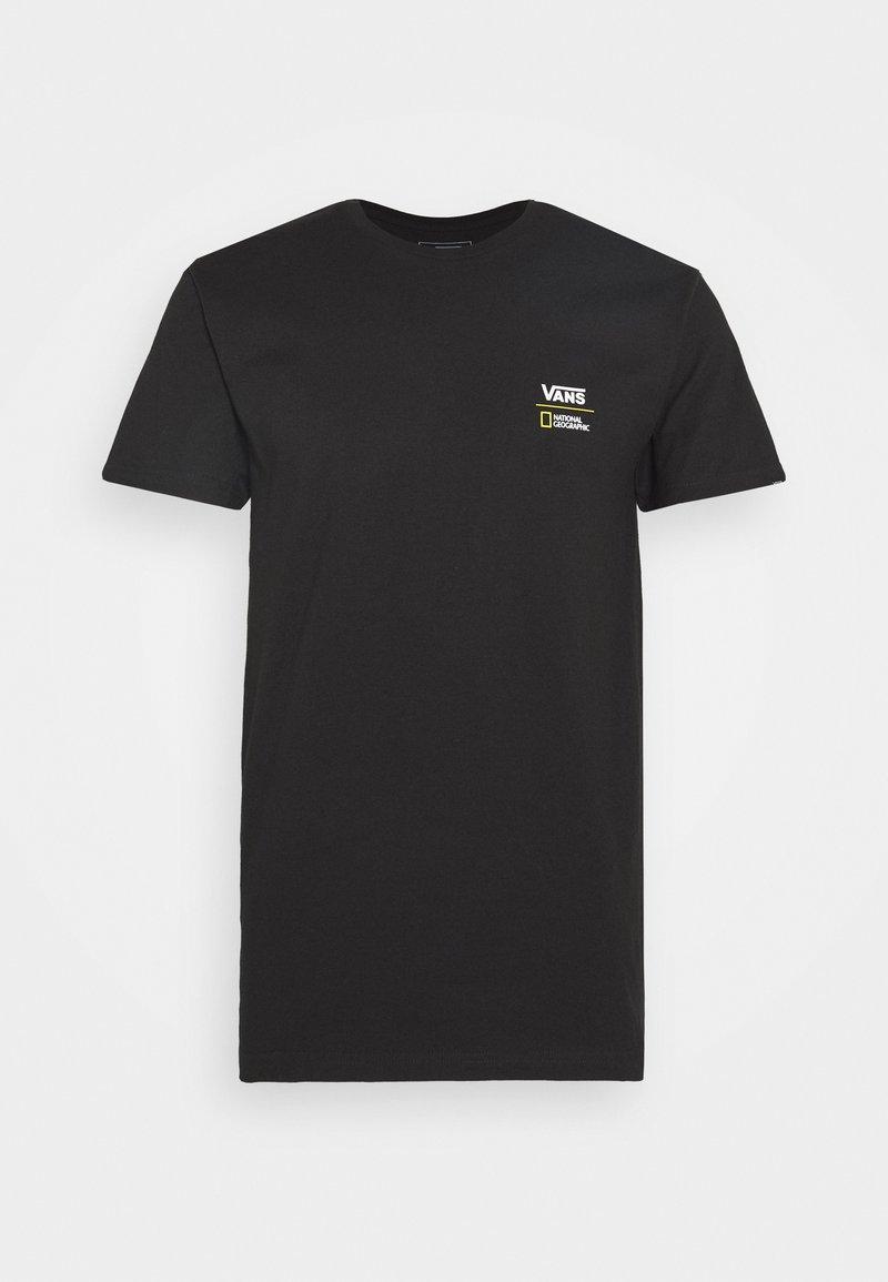 Vans - VANS X NATIONAL GEOGRAPHIC GLOBE - T-shirt con stampa - black