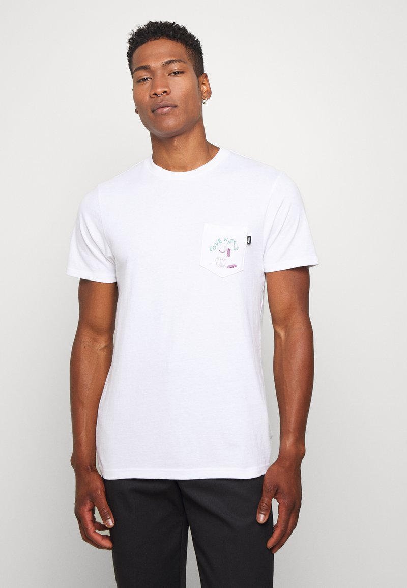 Vans - LOVE WAFFLE VINTAGE OVERDYE - Camiseta estampada - white