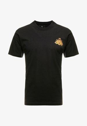 OFF THE WAFFLE  - Camiseta estampada - black