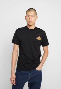 Vans - OFF THE WAFFLE  - T-shirt z nadrukiem - black - 2