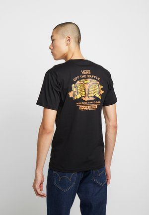 OFF THE WAFFLE  - Print T-shirt - black