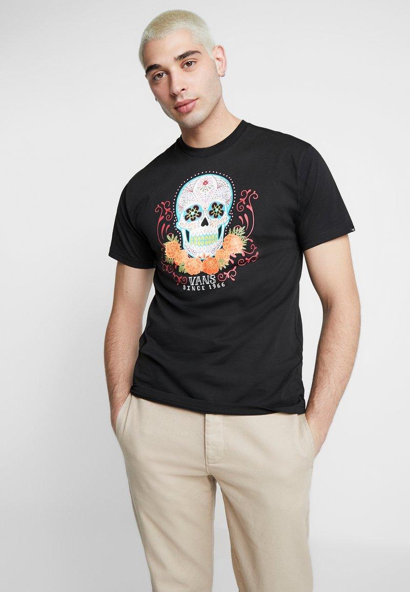Vans - DIA SUGAR SKULL - T-shirt con stampa - black