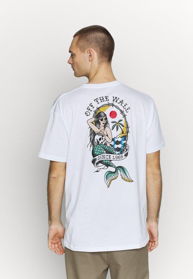 MERMAID  - Camiseta estampada - white