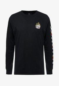 Vans - BURNING ROSE - Bluzka z długim rękawem - black - 4