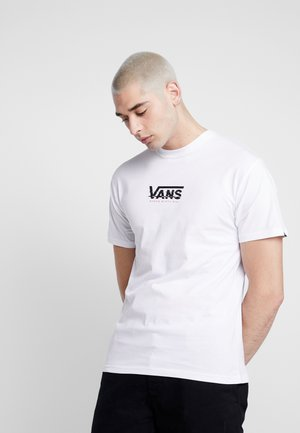 WARPED CENTER VISION - T-shirt con stampa - white
