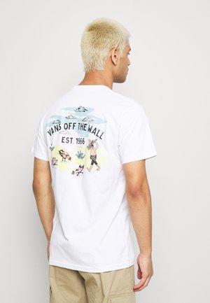KIDE - T-shirt con stampa - white