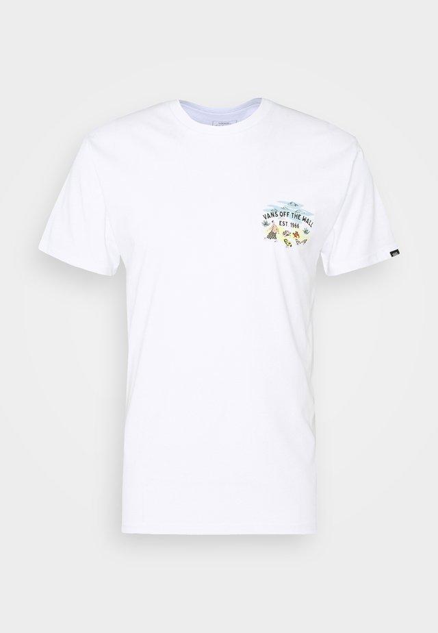 KIDE - T-shirt med print - white