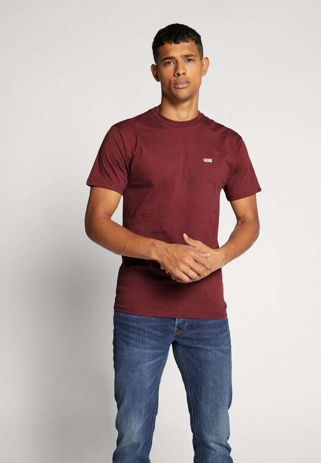 LEFT CHEST LOGO TEE - Camiseta básica - port royale/white