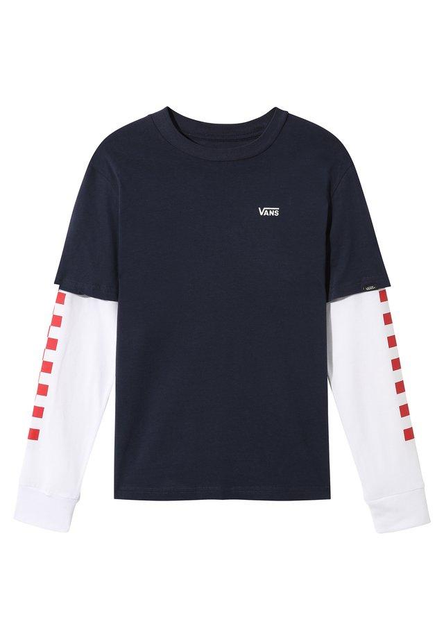 BY LONG CHECK TWOFER  - Camiseta estampada - dress blues