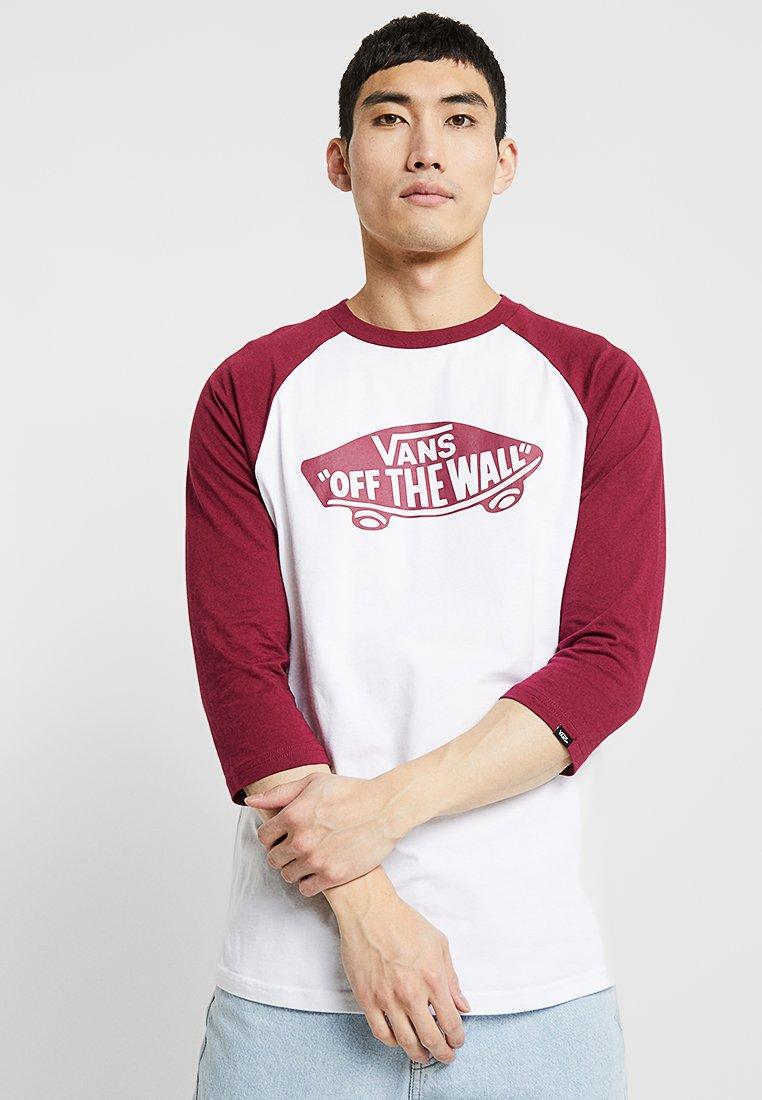 Vans - RAGLAN - Maglietta a manica lunga - white/rhumba red