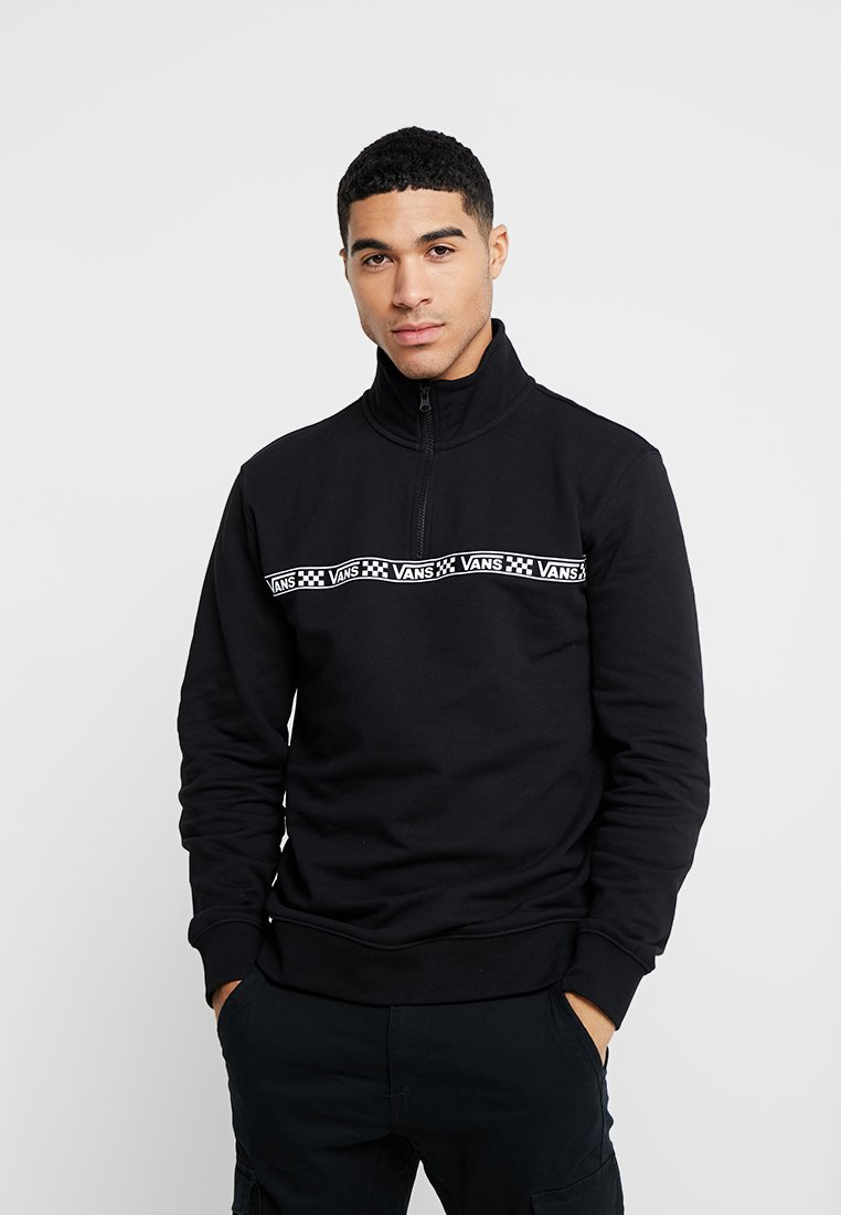 Vans - HALF ZIP MOCK NECK - Sweatshirt - black