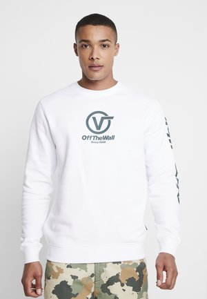 DISTORTED PERFORMANCE CREW - Sweatshirts - white