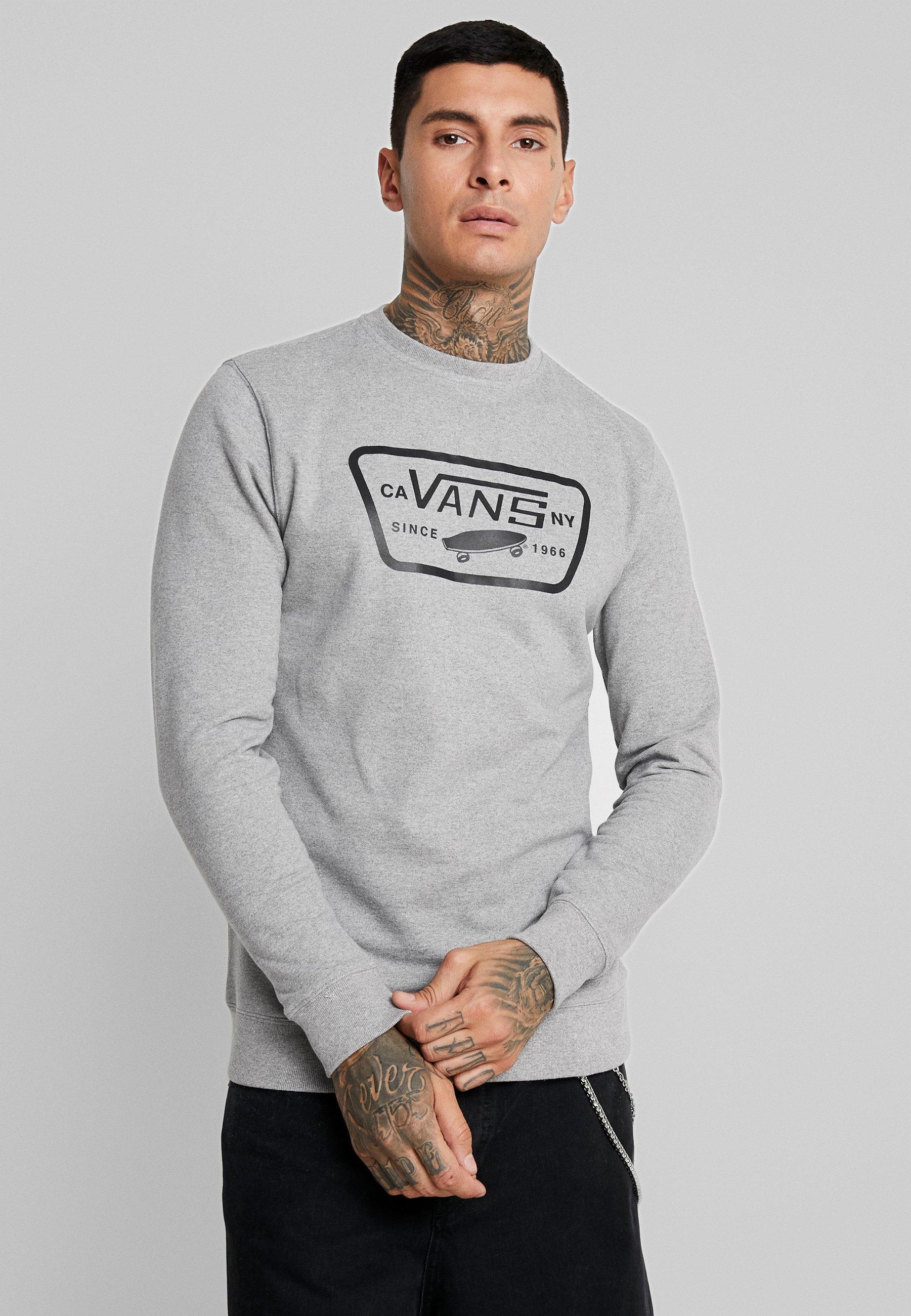 Vans CrewSweatshirt Full Heather Cement Patch J3uK15lFTc