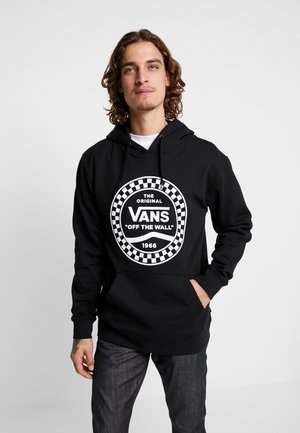 CHECKERED SIDE STRIPE FRONT - Hoodie - black