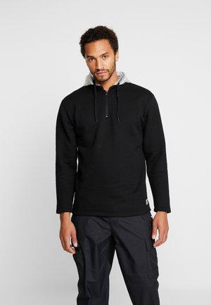 CLEAR HOOD QZIP - Bluza z kapturem - black